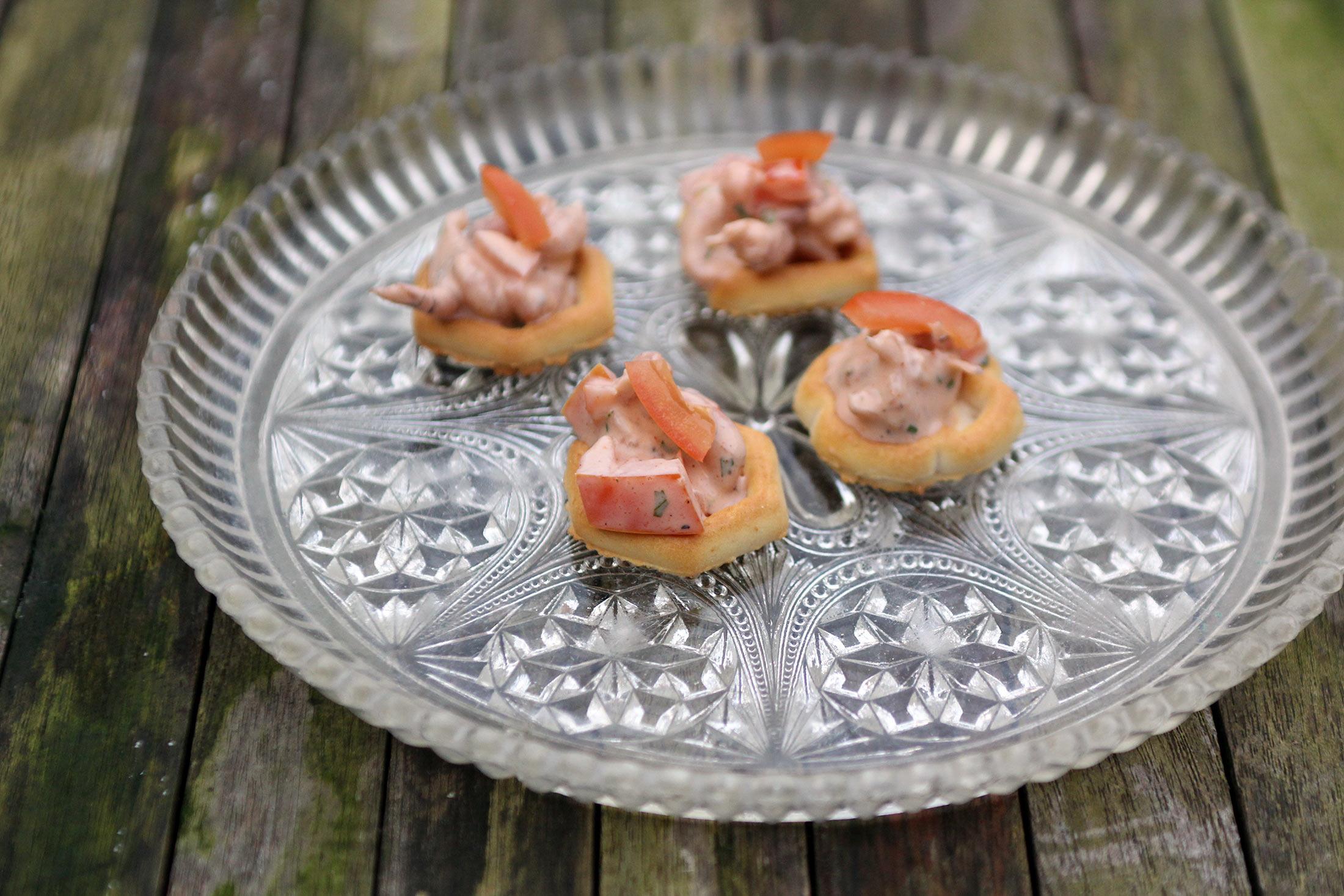 Toastje met garnaalsalade