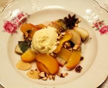 Papillot van abrikoos en perzik