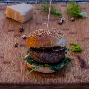 hamburger met lardo