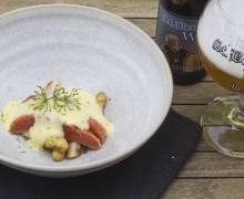 asperges met gemarineerde zalm en sabayon van Sint Bernardus (2)