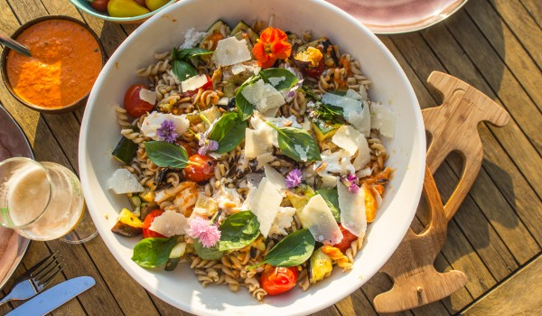 veggie pastasalade