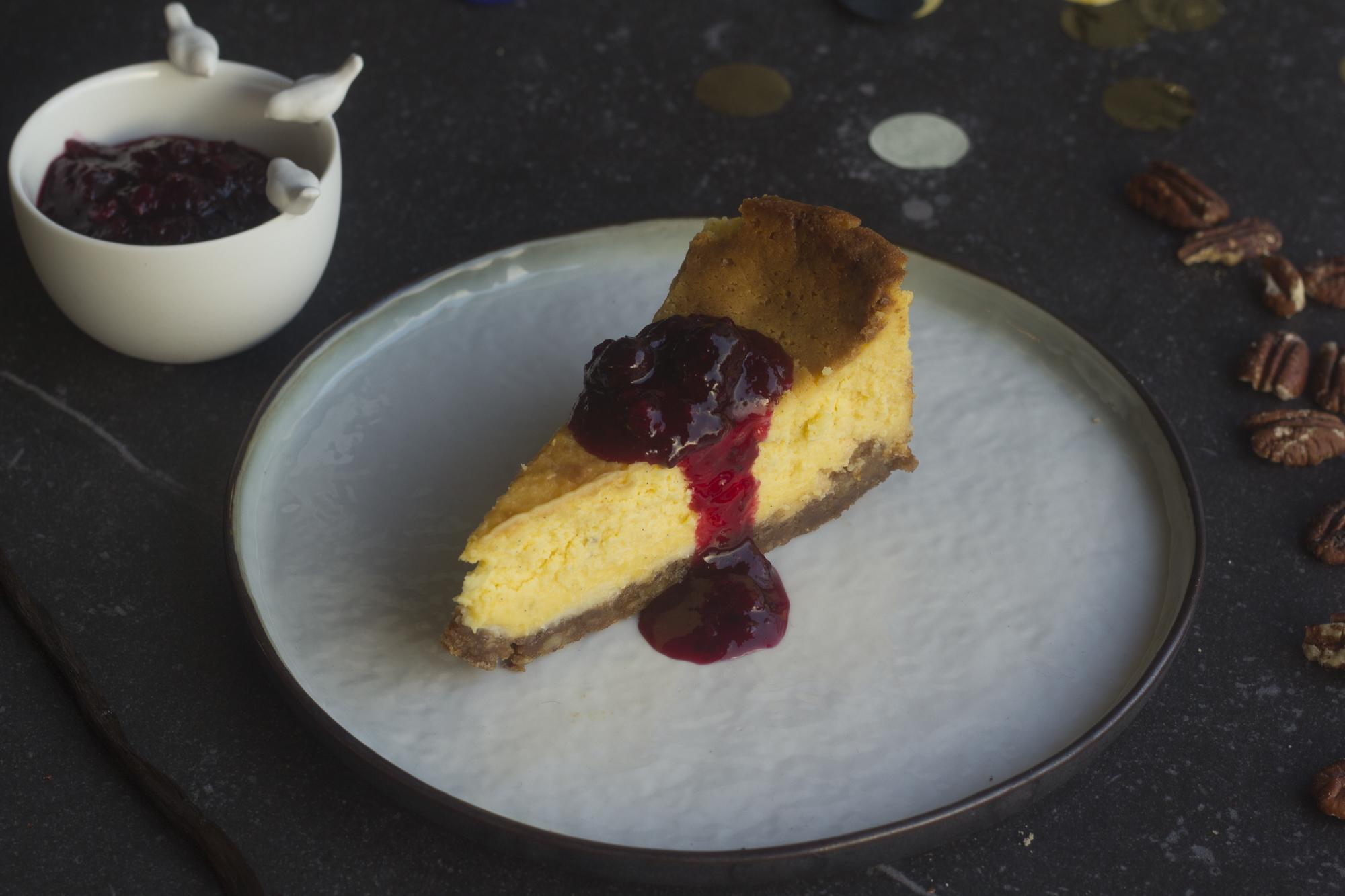 cheesecake met witte chocolade en speculaas